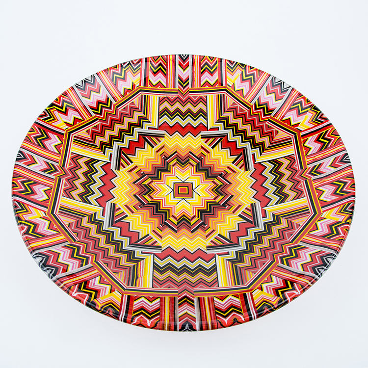 40cm Red mandala bowl