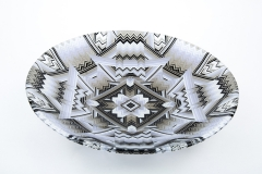 40cm Black and white mandala bowl