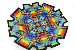'Medicine for Garmonbozia' Rainbow portal charger with sculpted edges 46 cm x 48 cm x 5cm