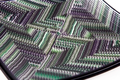Dark Purple and Green platter detail
