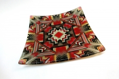 Red and Gold mandala 25cm platter