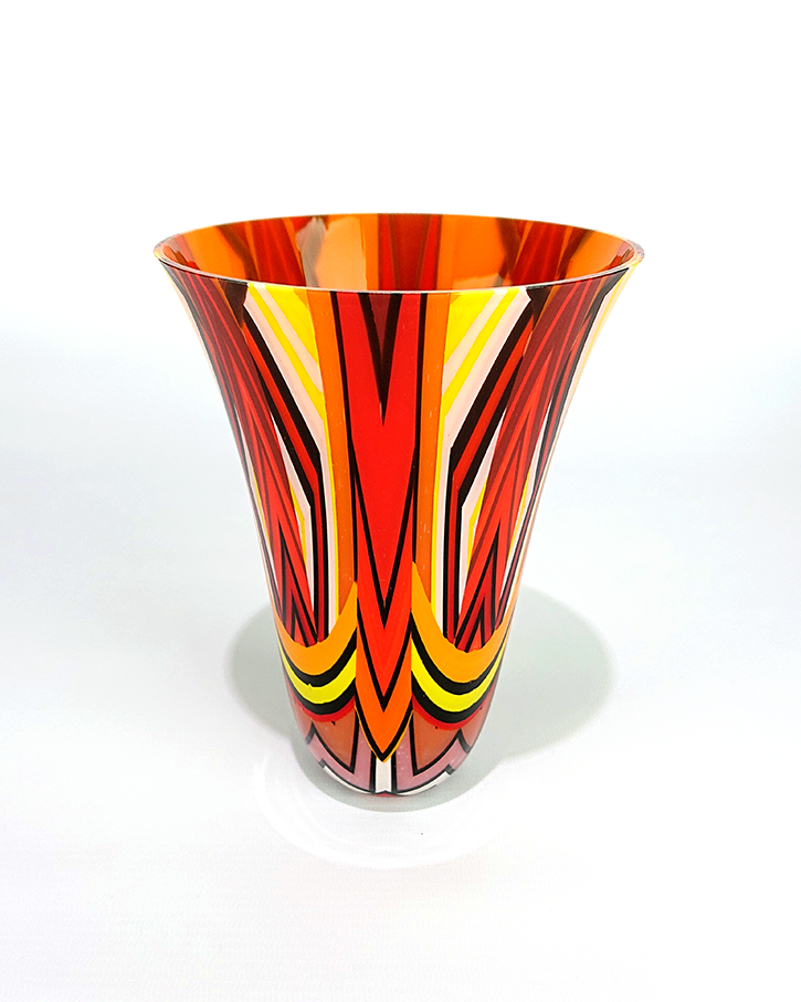 Red, Orange,Yellow vase