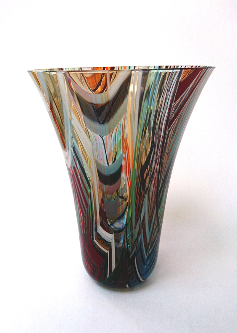 Multicouloured Drop out vase