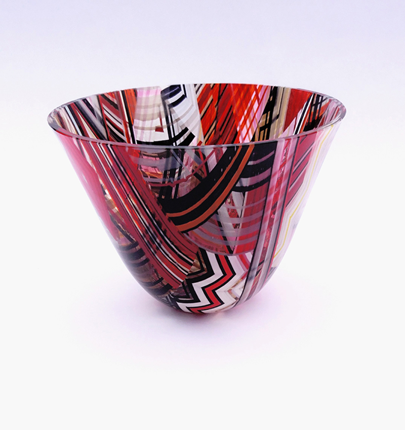 Red and Black drop out vase