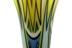 Blue, green, yellow vase