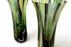 Green and Black Drop out vases