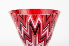 Red Geometric Drop out vase