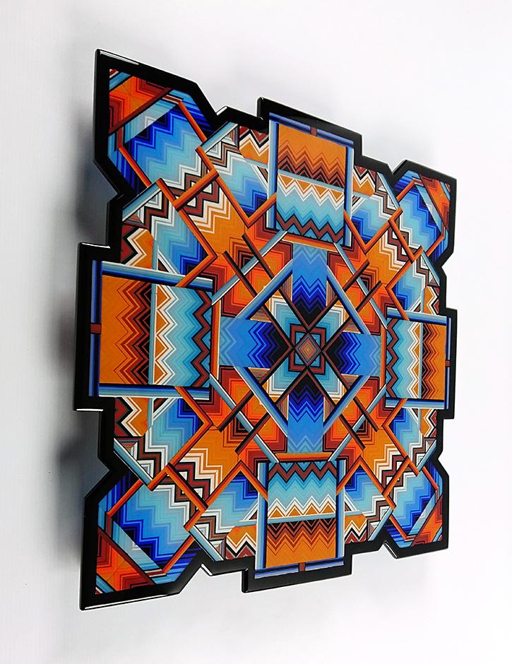 50 cm x 50 cm x 2 cm Portal wall panel with sculpted edges