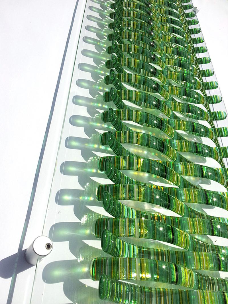 Green Wave wall art detail