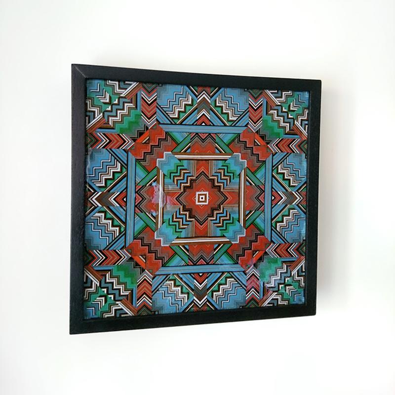 Red and Blue Mandala Lightbox 43cm x 43cm x 5cm unlit