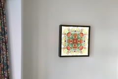 Mandala Glass Wallart lit 2017